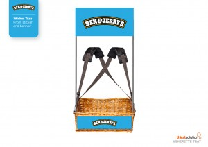 Ben and Jerry's Wicker Vendor Trays